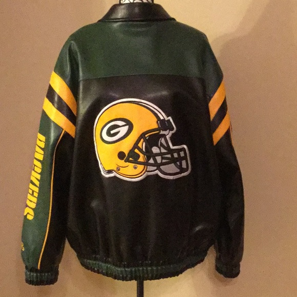 new style 427b3 e2bac NFL Brand Green Bay Packers Letterman Jacket XL